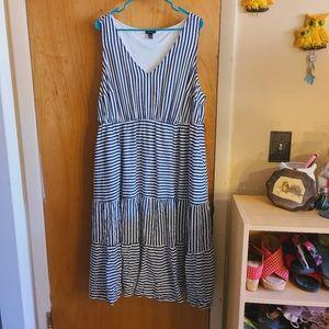 Torrid striped midi dress